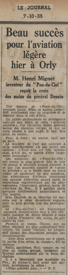 07/10/35 Le Journal