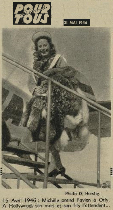 1946 - 21 mai - Michel Morgan