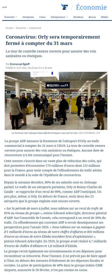 25/03/20 - Le Figaro Eco