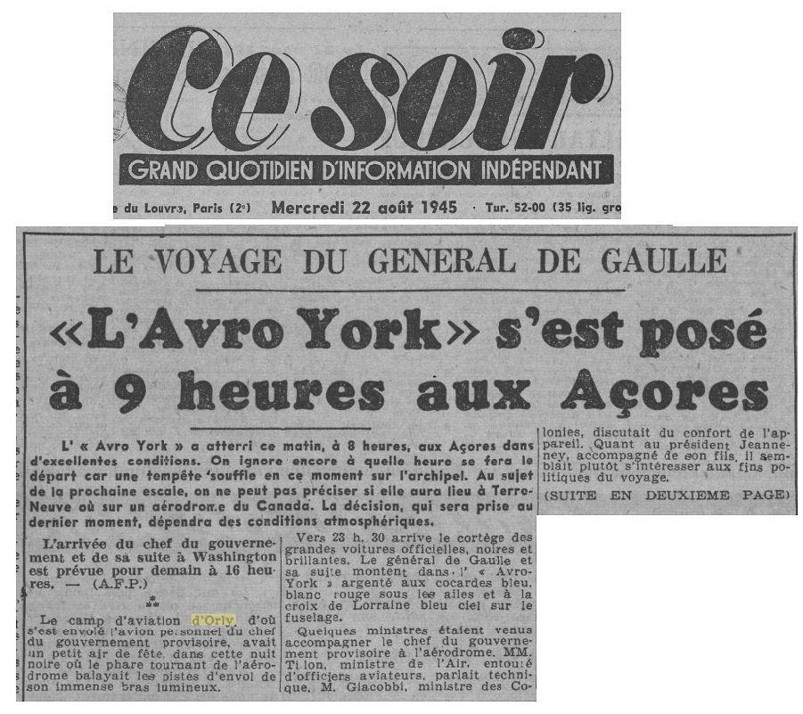 1945 - 22 aout - de gaulle