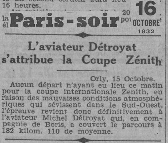 16/10/32 Paris Soir