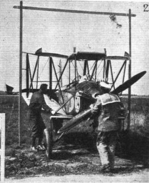 THE FOLDING TEST AT ORLY: (2) Aero A.34 (Walter) - another Czechoslovakian machine
