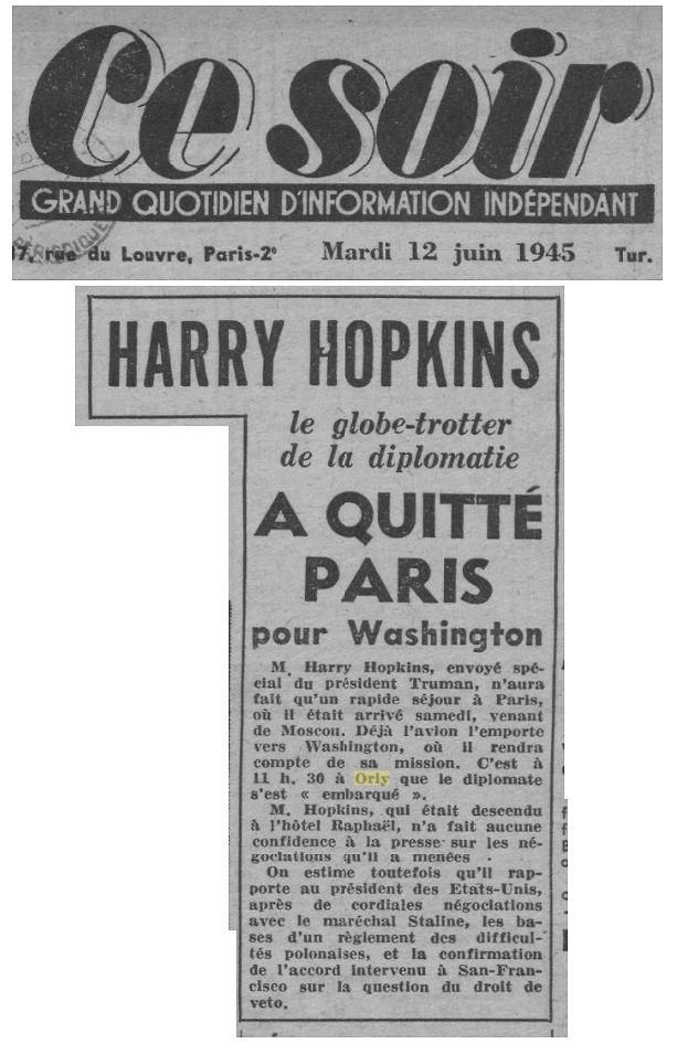 1945 - 12 juin - Harry hopkins