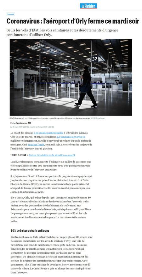 31/03/20 Le Parisien