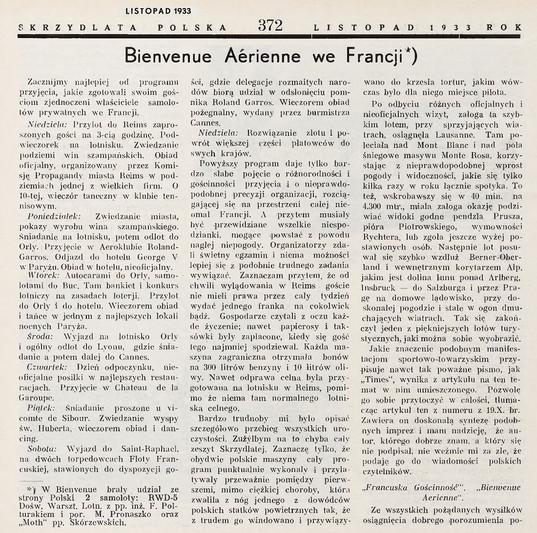 Novembre 1933 - Skrzydlata Polska