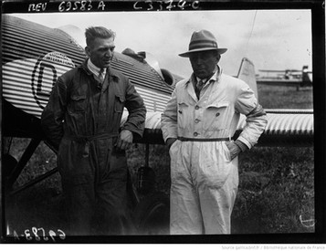 Orly : concours d'avions de tourisme : Kner et Procmarr [?] : [photographie de presse] / Agence Meurisse 1929