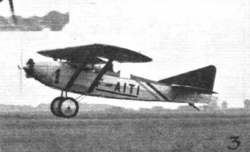 TAKING OFF AT ORLY: (3) The Caudron (Salmson) monoplane, piloted by M. Finat. © Flight