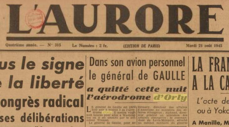 1945 - 21 aout - De Gaulle