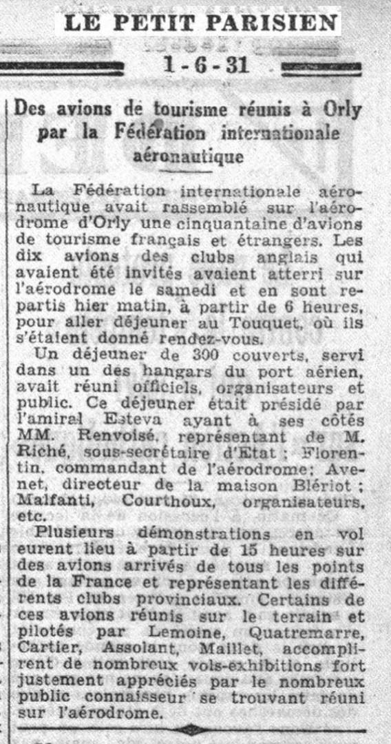 01/06/31 Le Petit Parisien