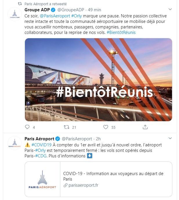 31/03/20 - Twitter Paris Aeroport