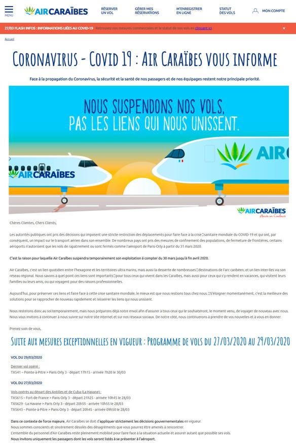 27/03/20 Air Caraibes
