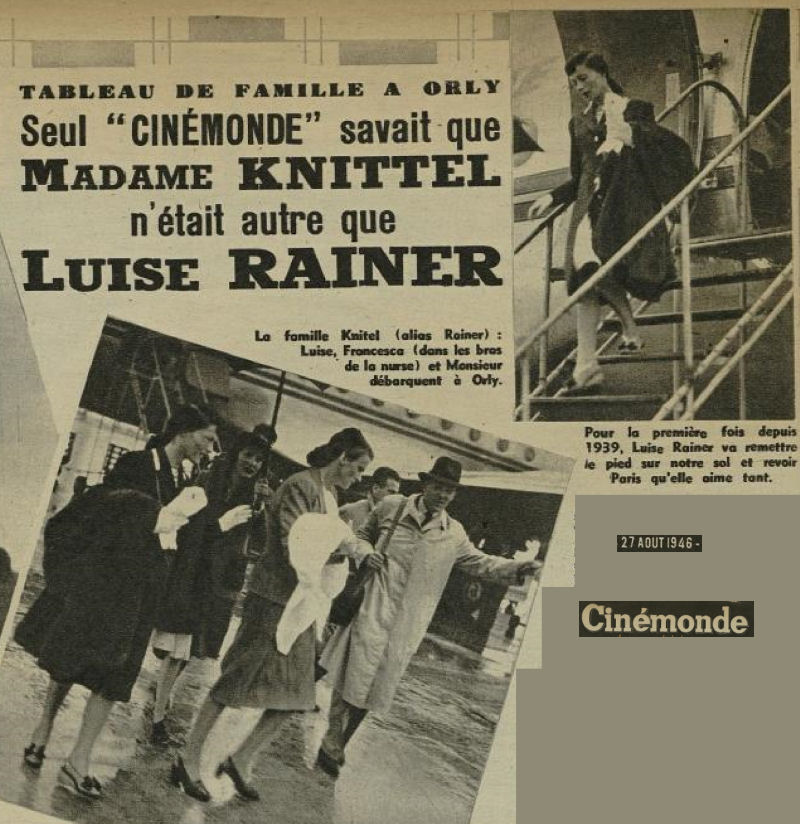 1946 - 27 aout - Luise Rainer