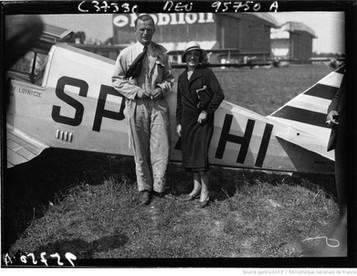 Orly : circuit européen des avions de tourisme : Giedgowd, avec Maryse Bastié : [photographie de presse] / Agence Meurisse 1932