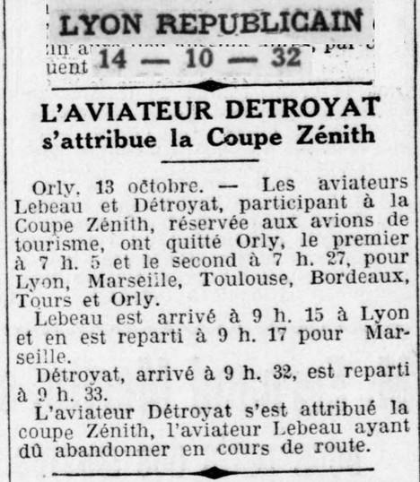 14/10/32 Lyon Republicain