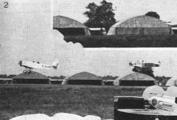 PETROL TEST AT THE ORLY MEETING: (2) The French Caudron 193 low-wing monoplane and the Avia Antelope (Walter)