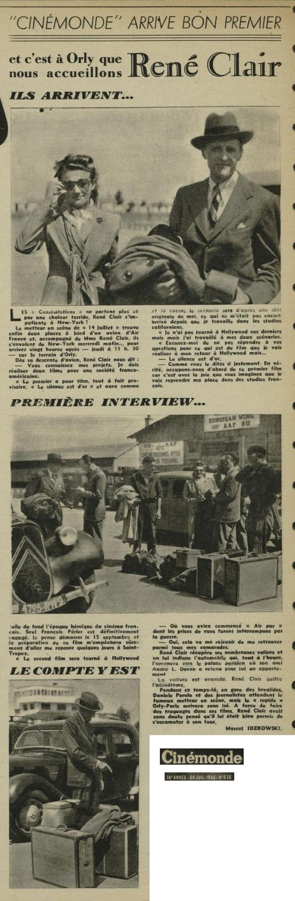 1946 - 30 juillet - Rene Clair