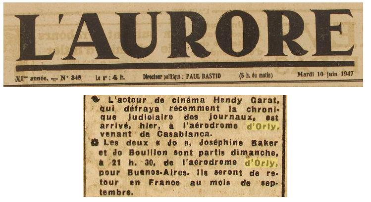 1947 - 10 juin - garat baker