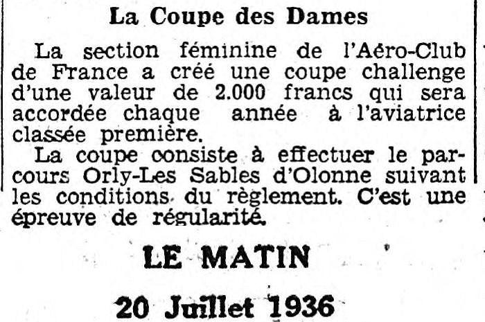 20/07/36 Le Matin