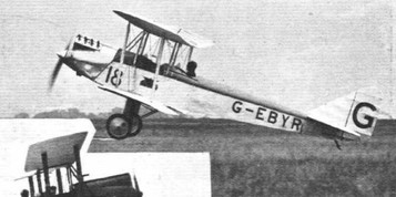 """TAKING OFF AT ORLY: (1) The Avro """"Avian"""" (Cirrus) flown by Capt. Percival. © Flight"""