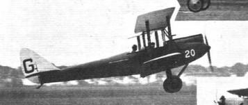 TAKING OFF AT ORLY: (2) The Gipsy-Moth flown by Capt. H. Broad. © Flight