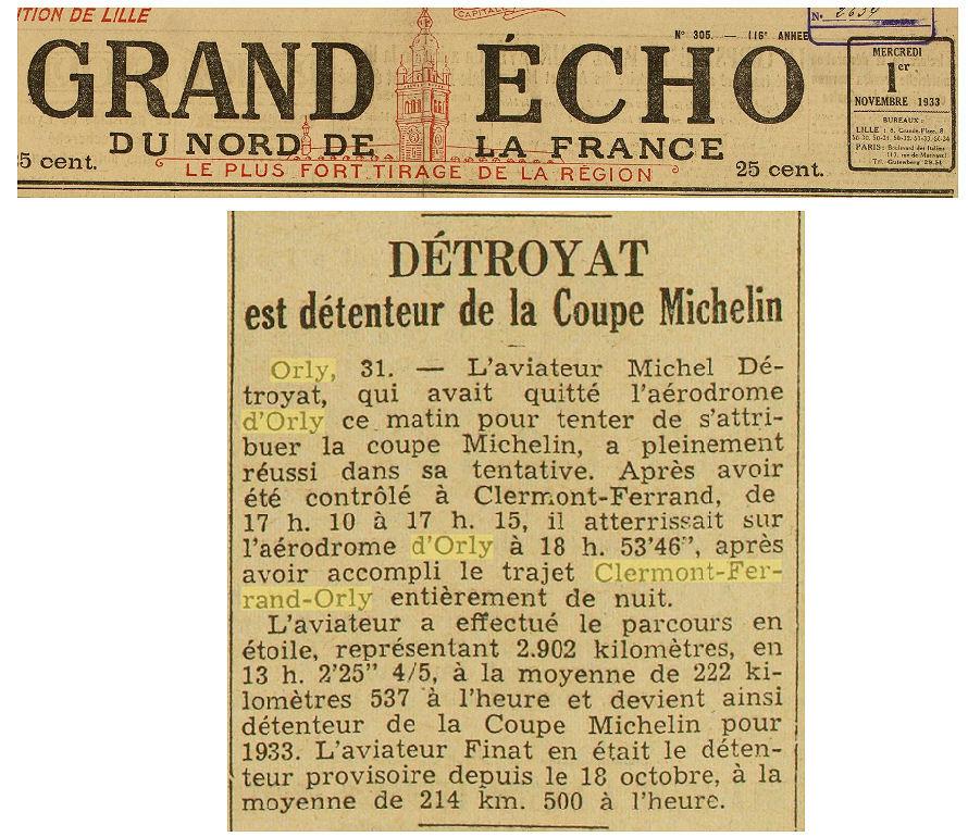 01/11/33 Grand Echo du Nord de la France