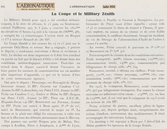 Juillet 1924 - L'Aéronautique