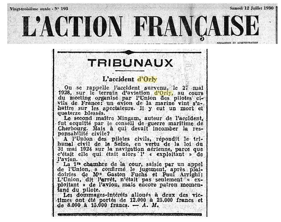 12/07/30 - L'action Francaise