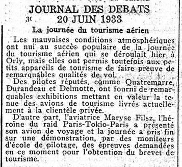 20/06/33 Journal des Debats