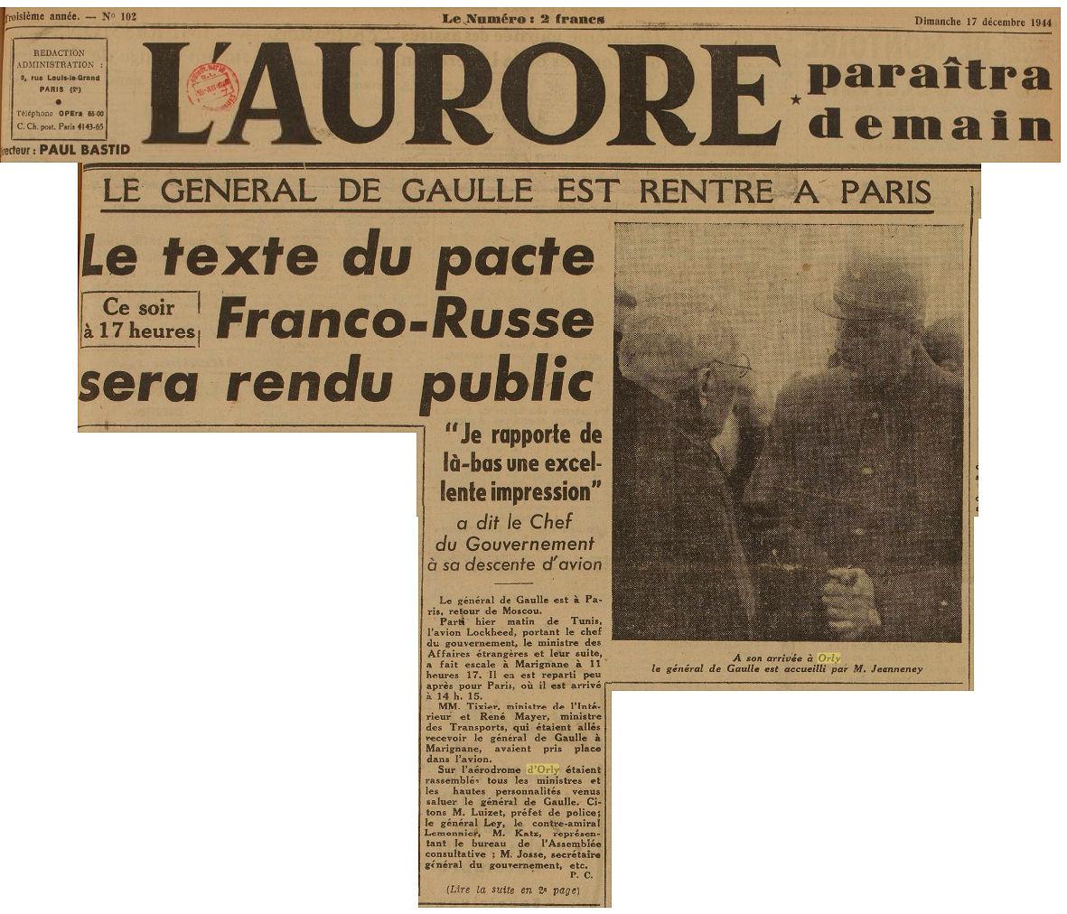 1944- 17 decembre - de gaulle