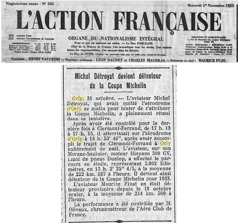 01/11/33 L'Action Francaise