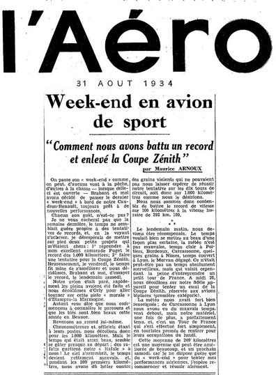 31/08/34 L'Aéro
