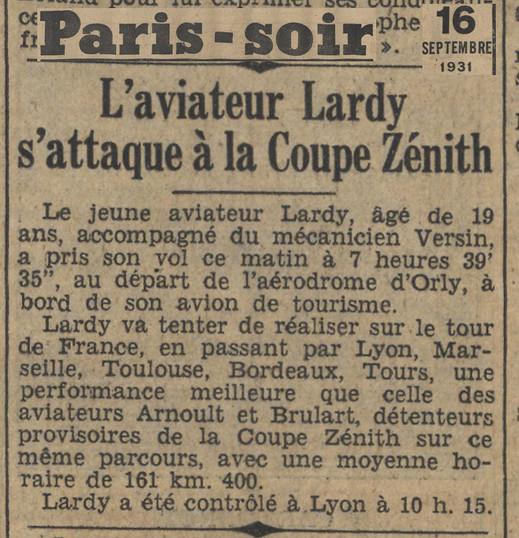 16/09/31 Paris Soir