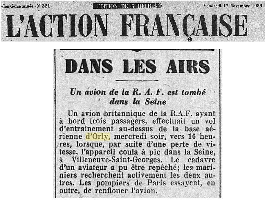 17/11/39 L'Action Francaise