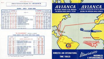 Avianca - à partir du 01 mai 1954