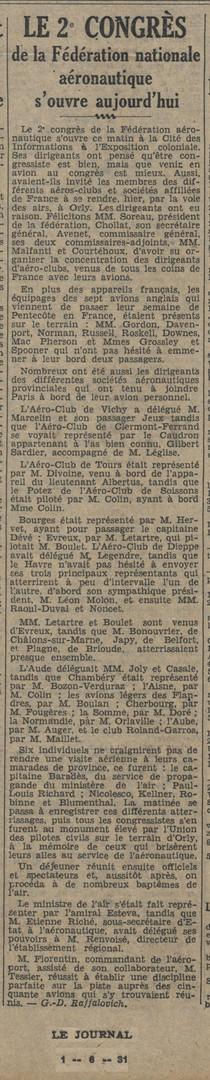 01/06/31 Le Journal