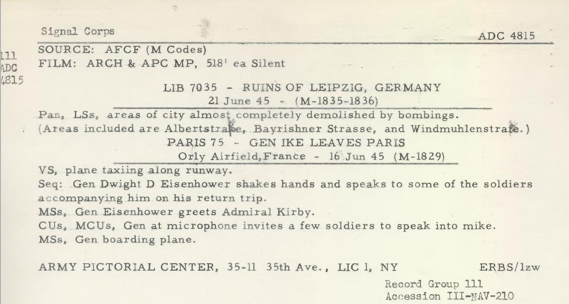1945 - 16 juin - depart Eisenhower