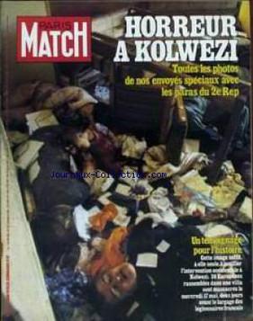 """PARIS-MATCH numéro 1514 du 02/06/78 """"Orly, les tueurs libanais"""""""