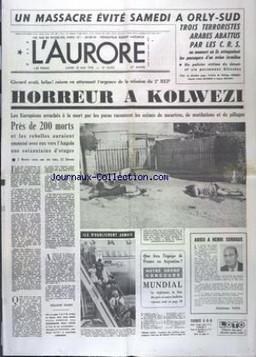 """L'AURORE numéro 10475 du 22/05/78 """"Un massacre évité samedi à orly-Sud"""""""
