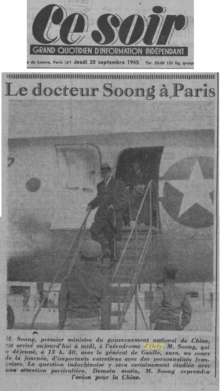 1945 - 20 septembre - Soong