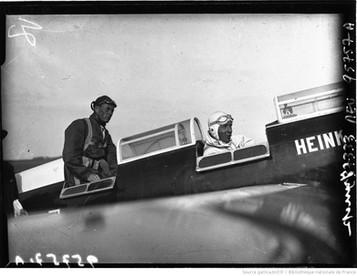 Orly : circuit européen des avions de tourisme : Junck (portrait à 4 m) : [photographie de presse] / Agence Meurisse 1932