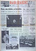 """SUD-OUEST numéro 7527 du 07/11/68 """"Orly: Alerte à la bombe sur le Boeing Paris-Athènes"""""""