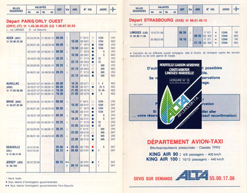 ALTA - du 30 Mars 1986 au 26 Octobre 1986