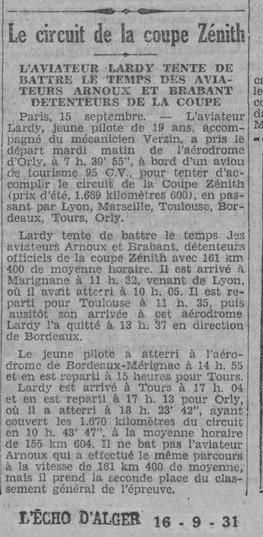 16/09/31 L'Echo d'Alger