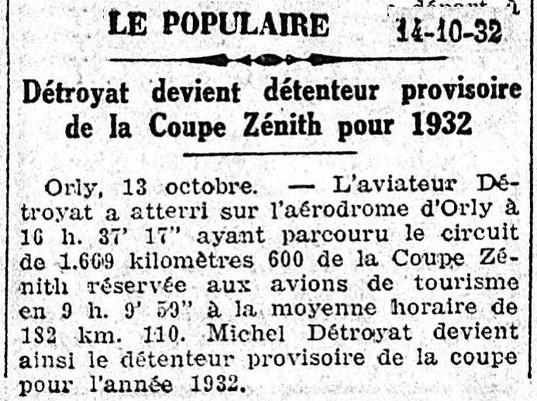 14/10/32 Le Populaire