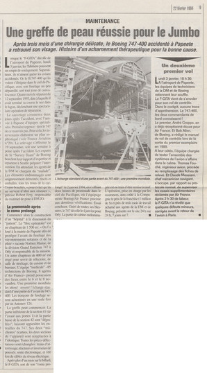 Magazine France Aviation numéro 29, 22/02/94