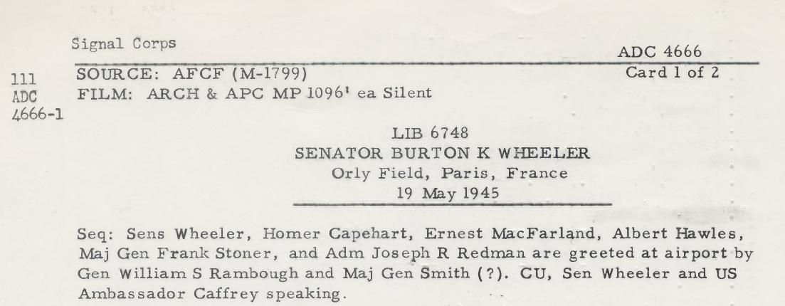 1945 - 19 mai - Senator Burton