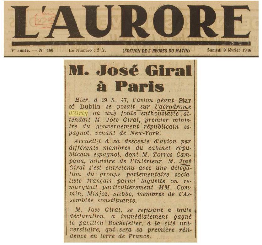 1946 - 09 fevrier - jose giral