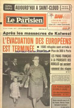 """LE PARISIEN LIBERE numéro 10470 du 23/05/78 """"La fusillade d'Orly- un des terroristes identifié"""""""