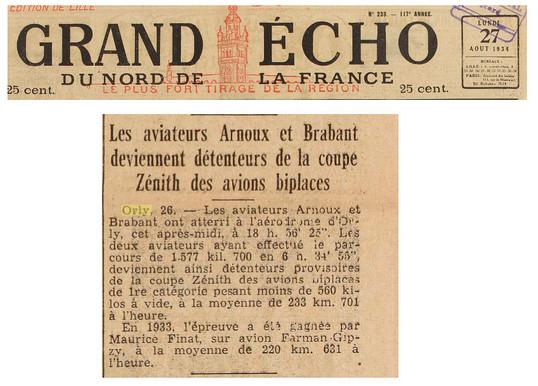 27/08/34 Grand Echo du Nord