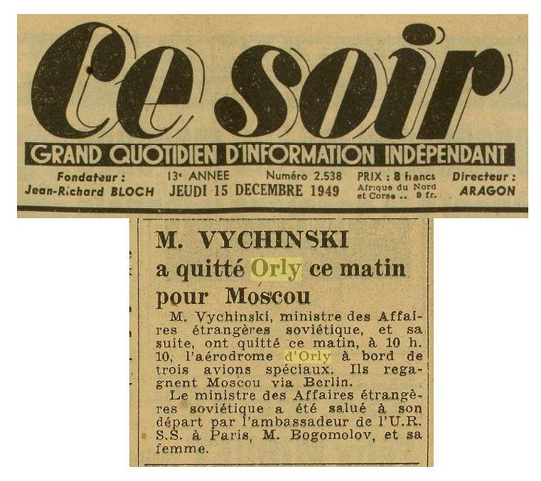 1949 - 15 decembre - Vychinski